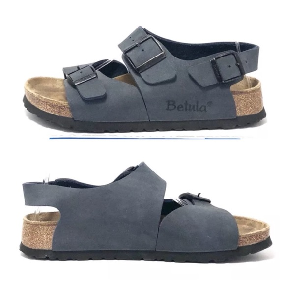 eb71a47565a Birkenstock Shoes - Birkenstock Betula Blue MILANO Slingback Sandals